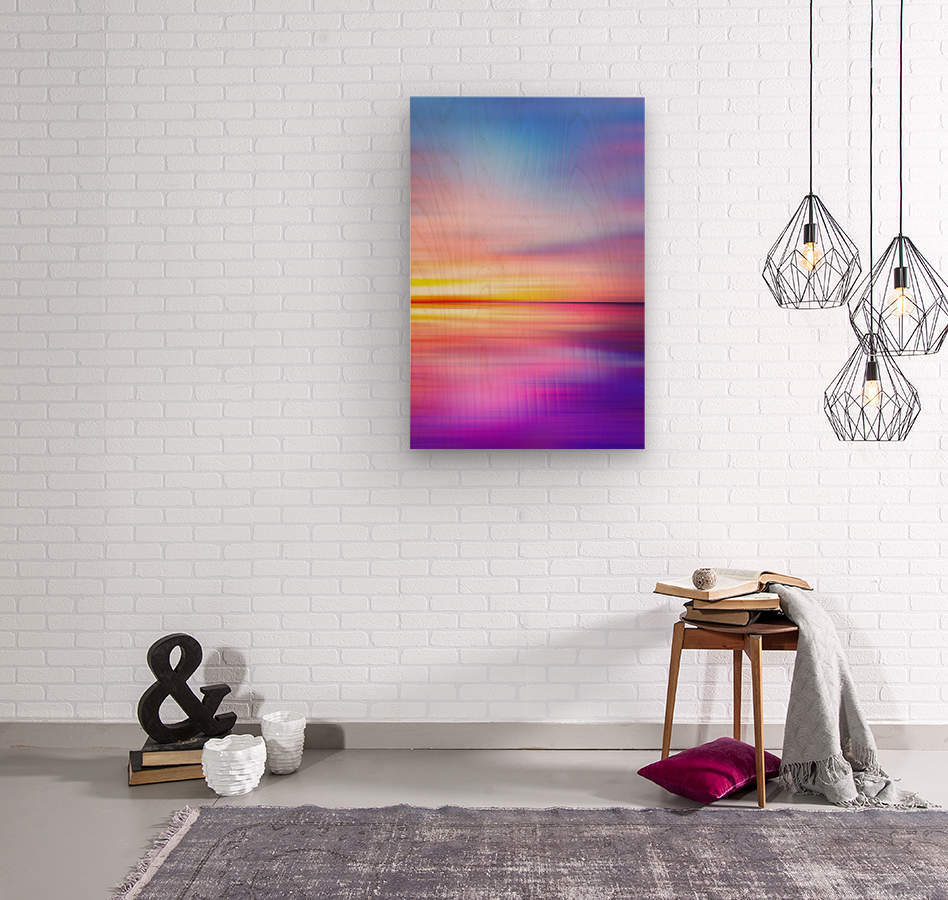 Abstract Sunset VII  Wood print