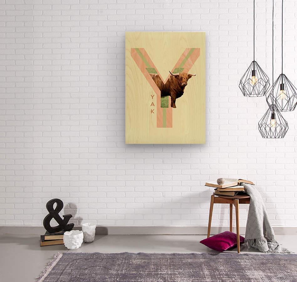 Yak  Wood print