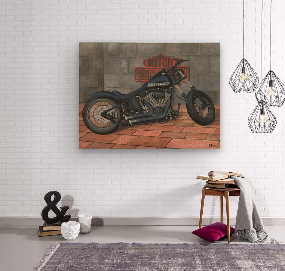 Harley Davidson Motorcycle  Wood print