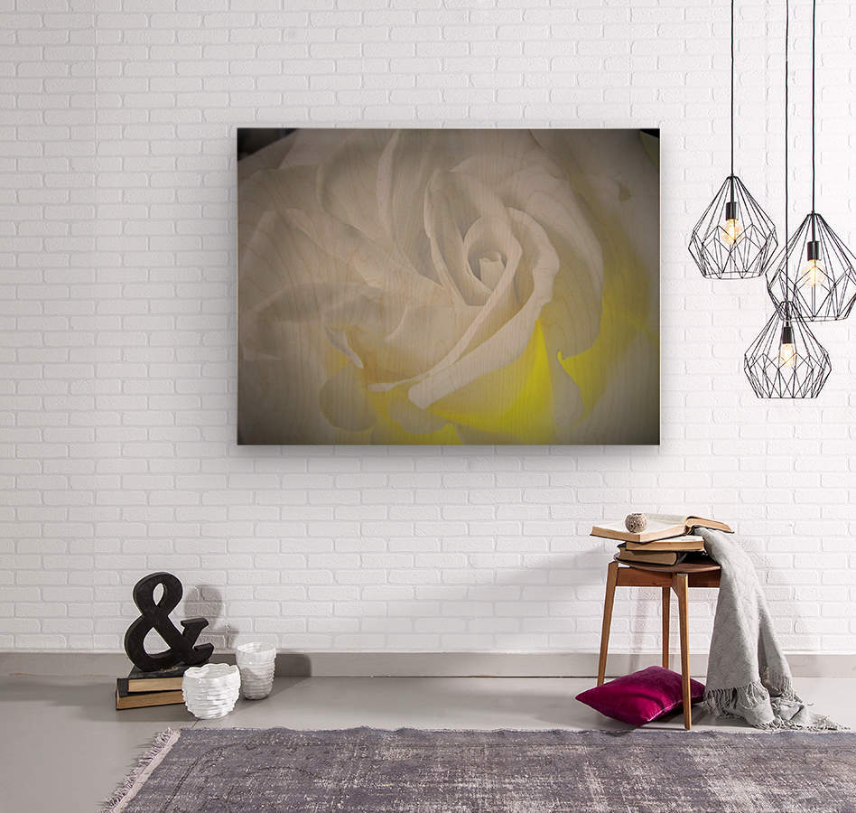 White Layers  Wood print