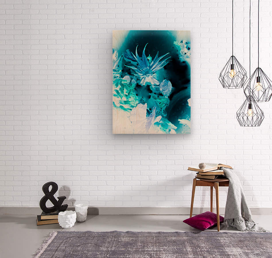 Bleu Bird Ingnite   Impression sur bois