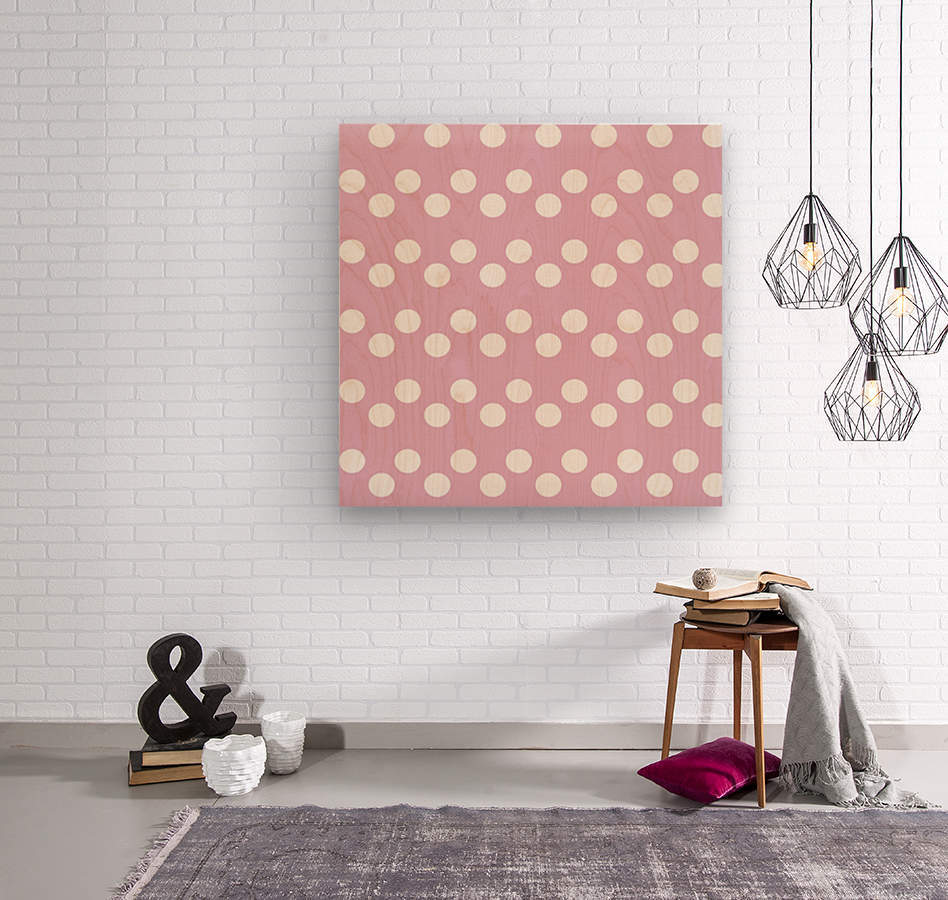 Sweet Lilac Polka Dots  Wood print