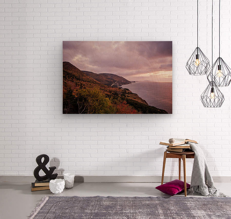 Cabot Trail in the fall  Wood print