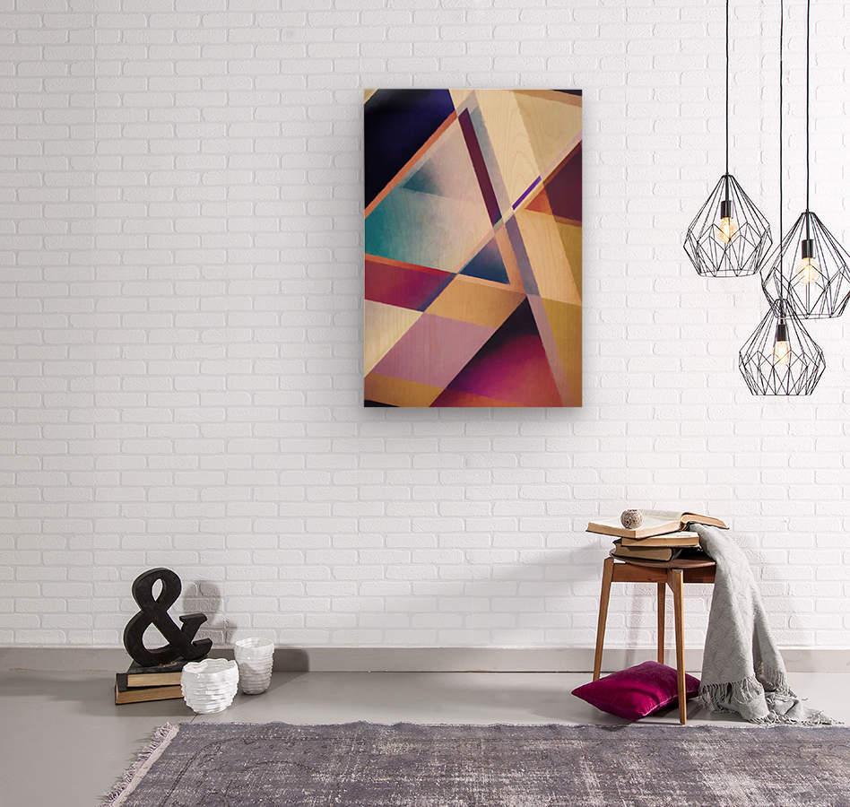 Composition des Pyramides  Wood print