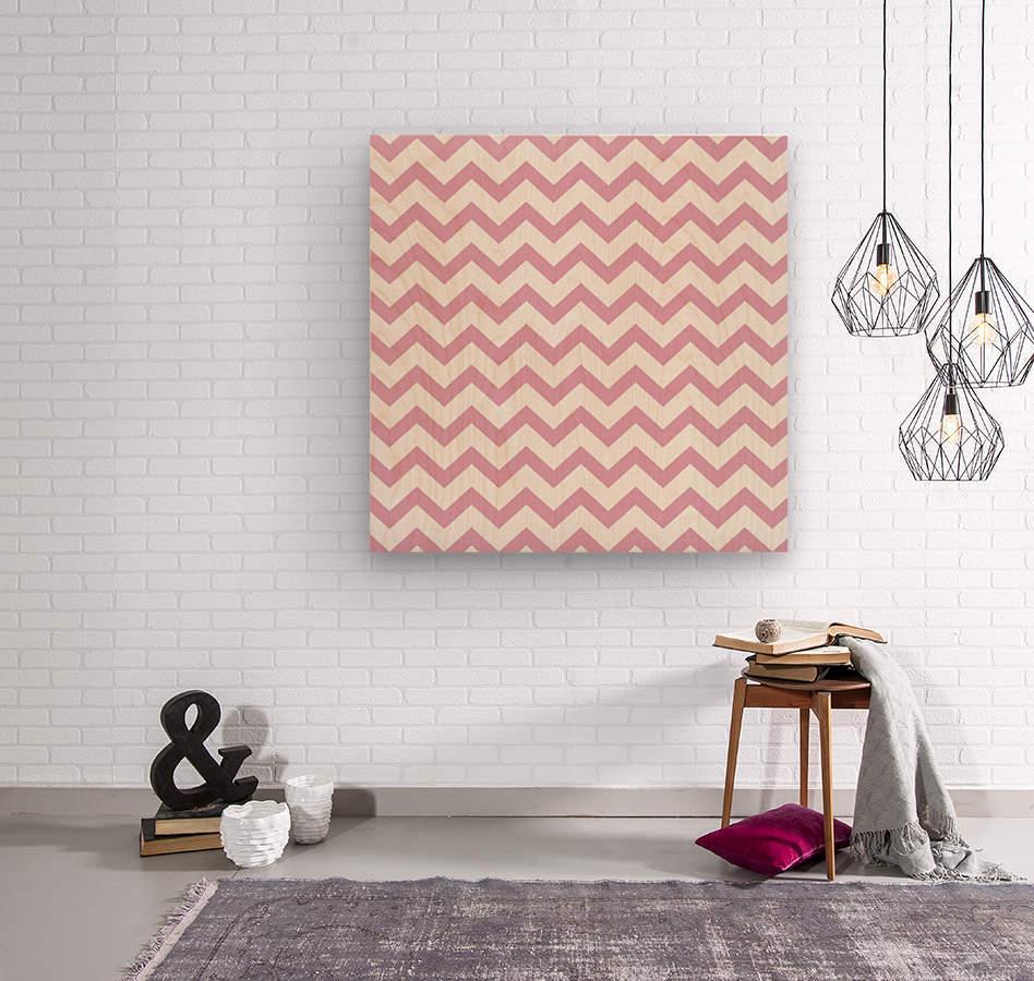 AZALEA CHEVRON  Wood print