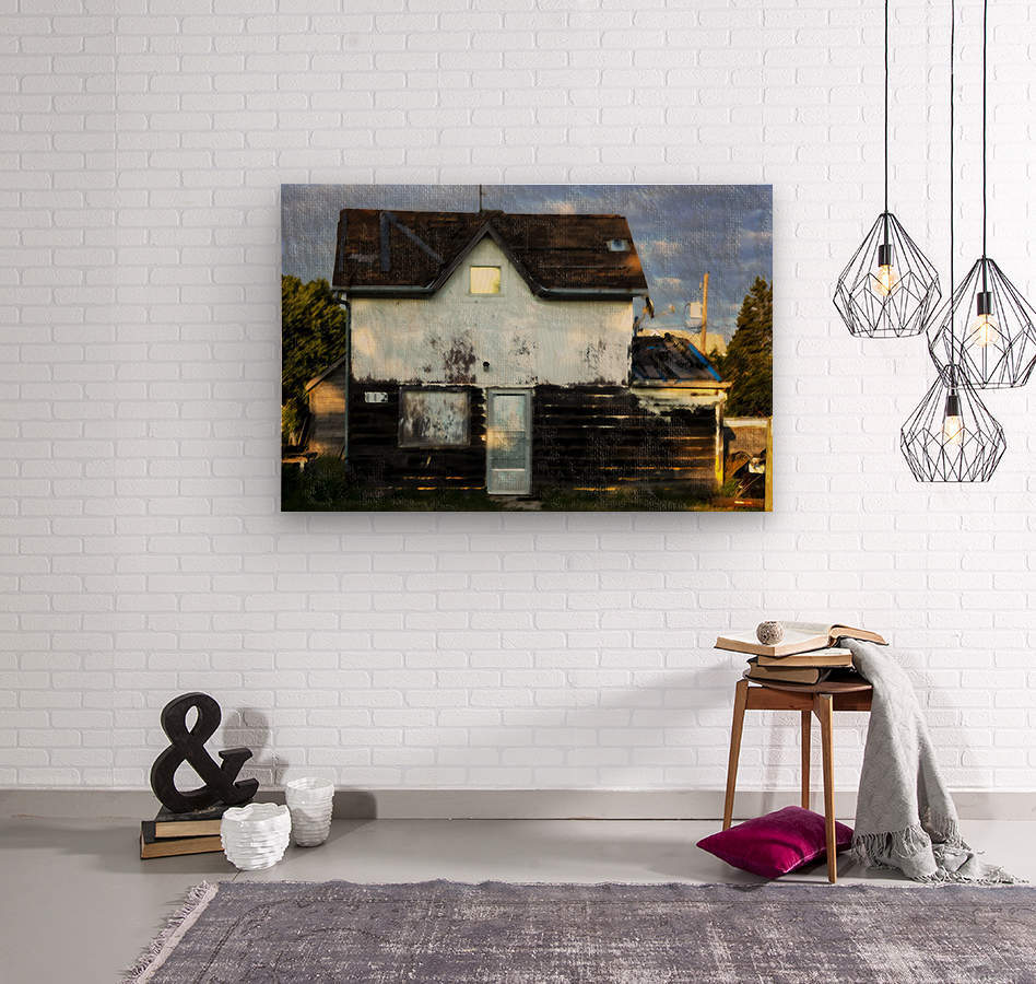 Austin house  Wood print