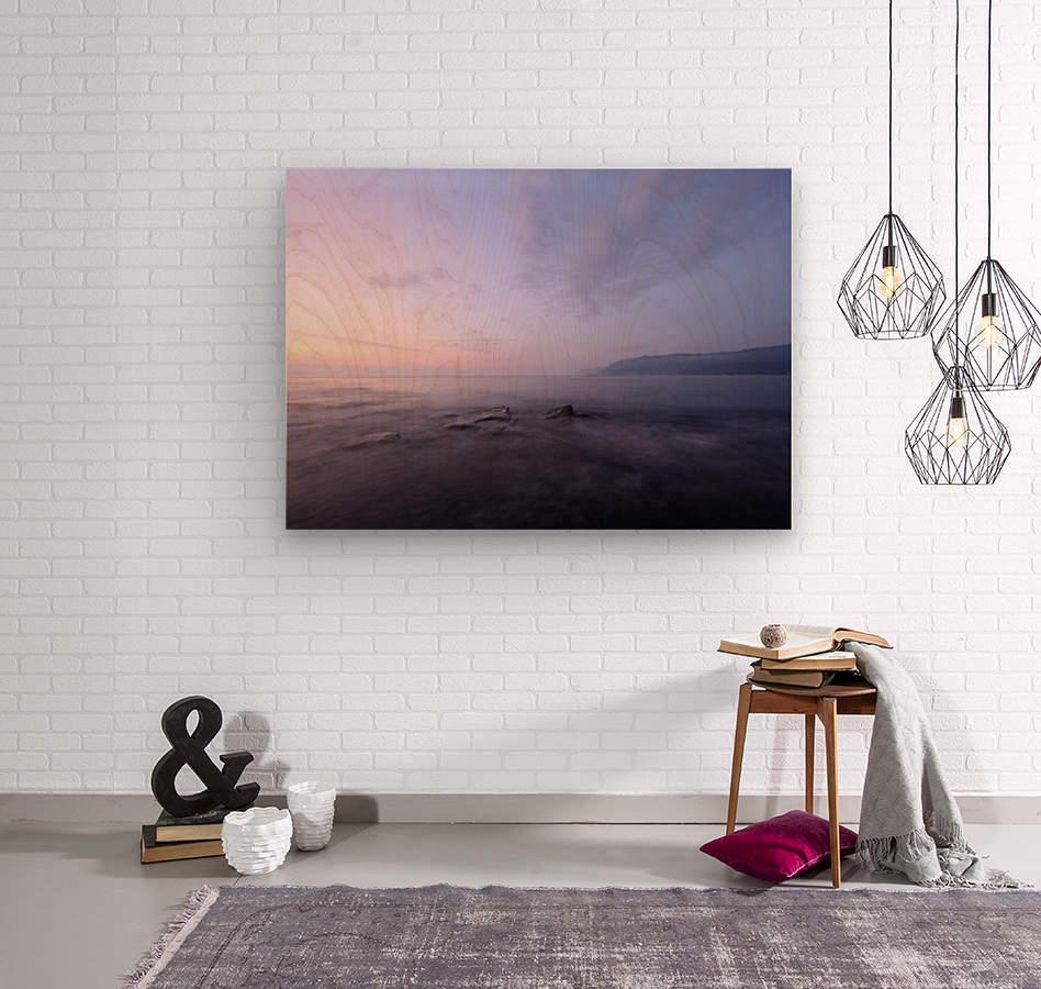 Soft lights  Wood print
