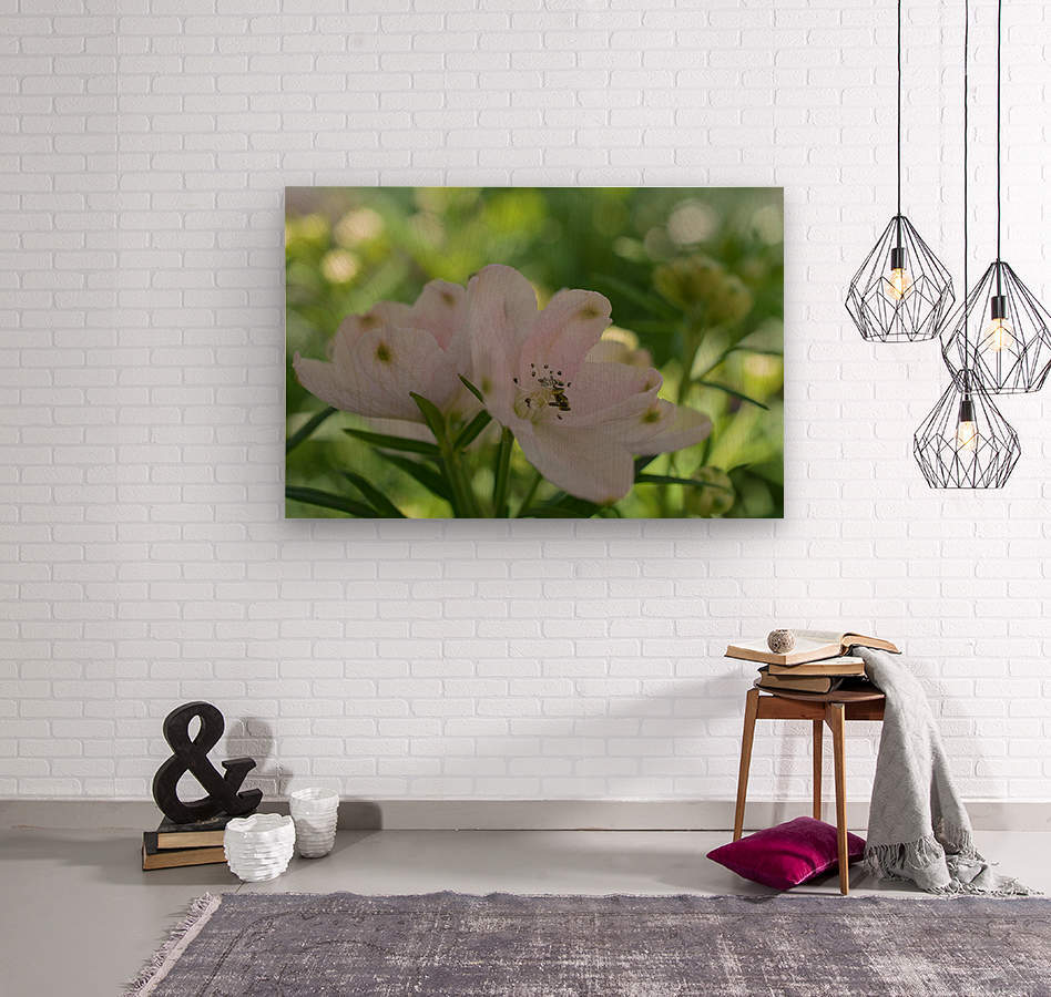 White Flowers Photograph  Wood print