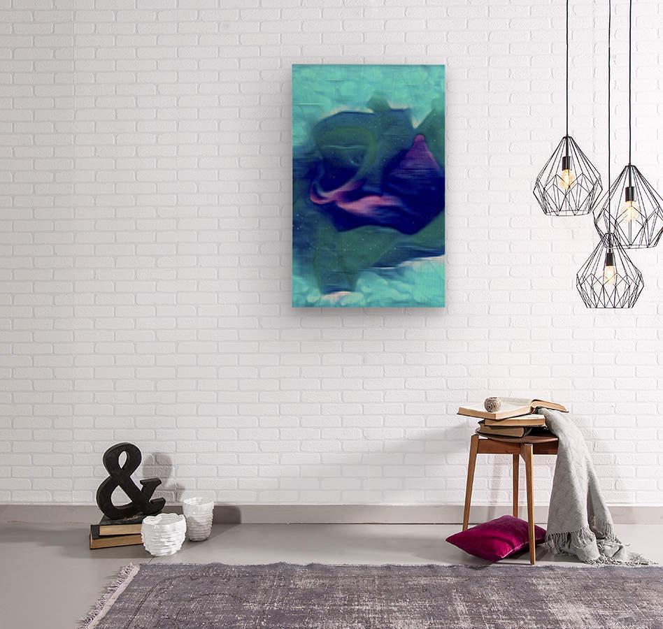 Flora of Paint  Wood print