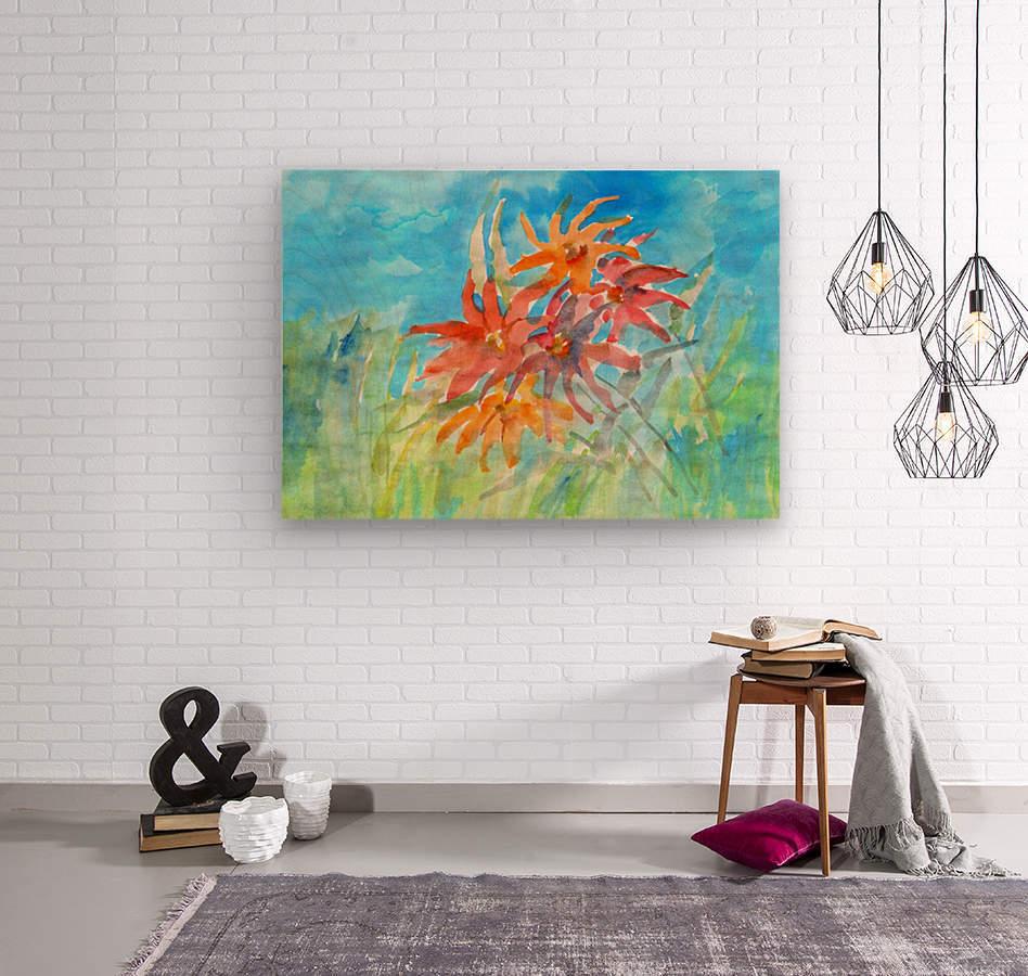 wildflower  Wood print