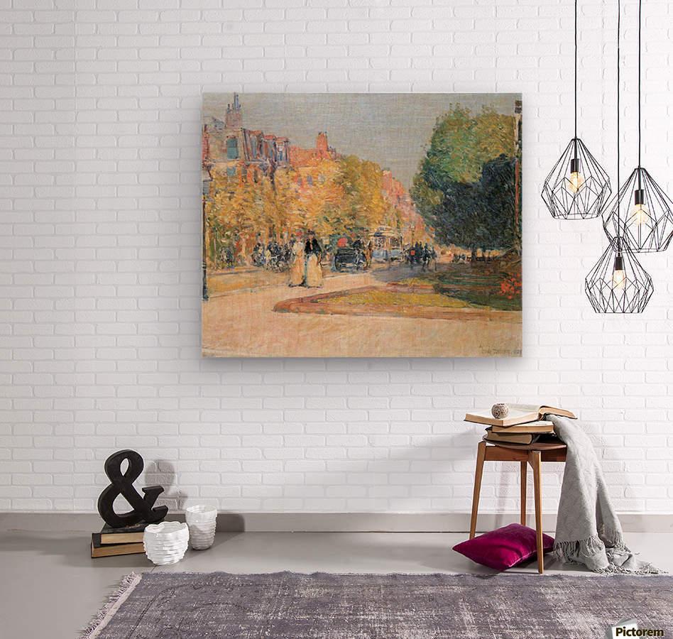 Malborough Street, Boston by Hassam  Wood print