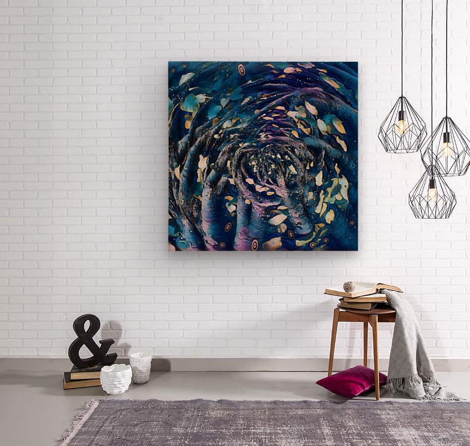 blue roots  Wood print