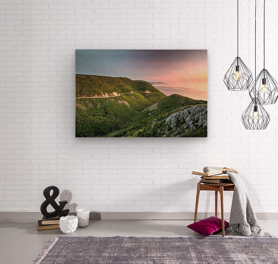 Skyline Sunset  Wood print