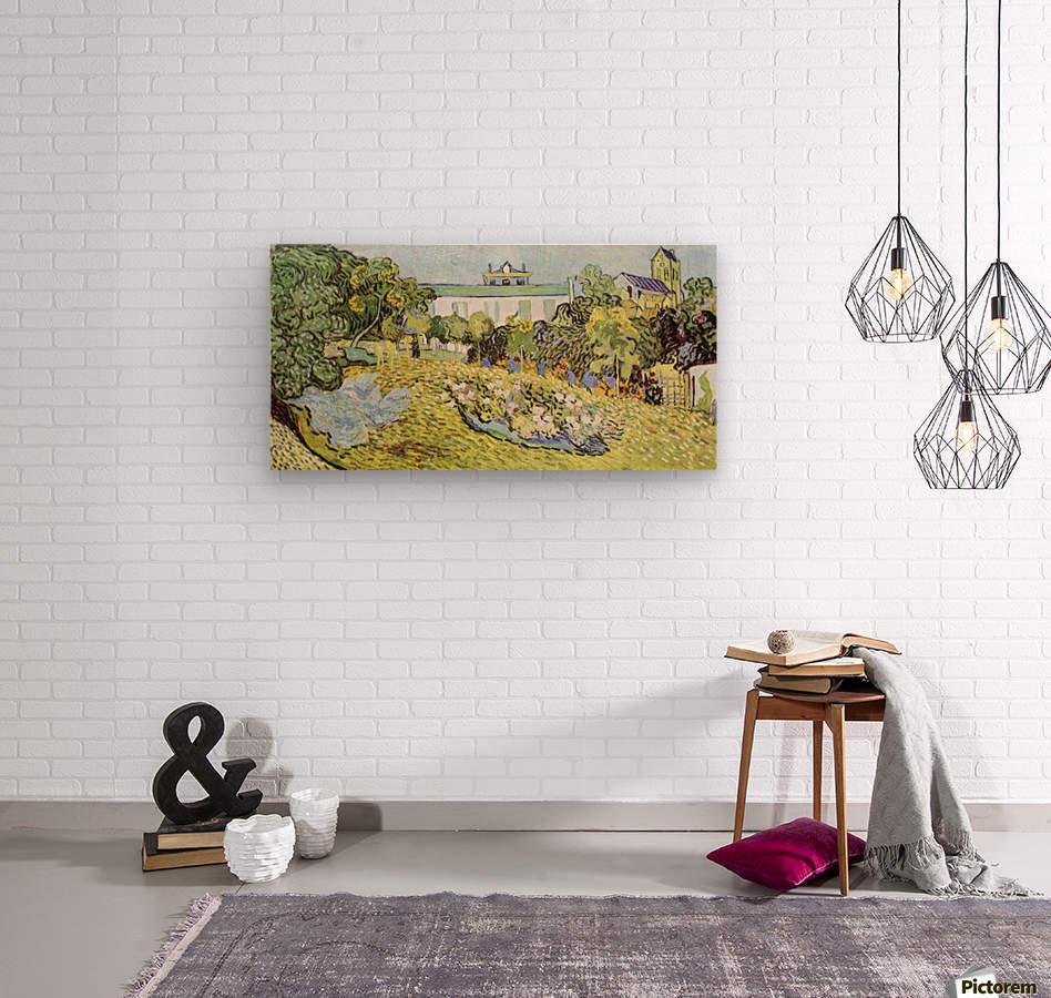 The garden of the Daubignys by Van Gogh  Wood print