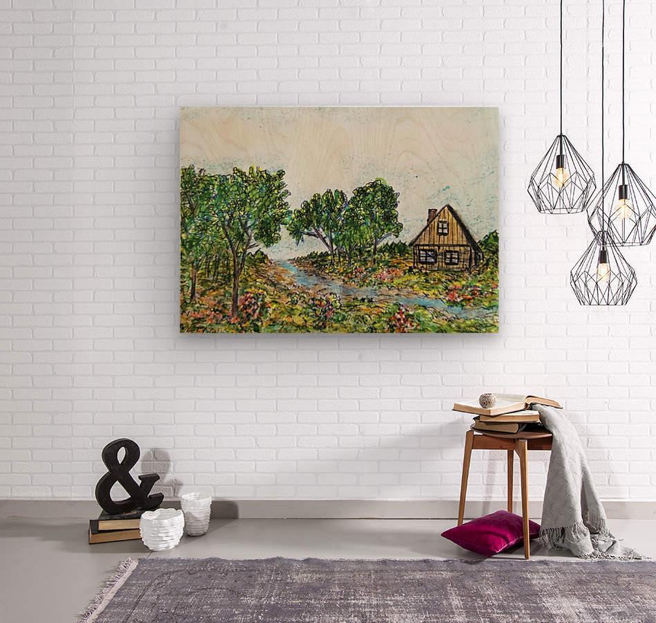 Across The Creek  Wood print