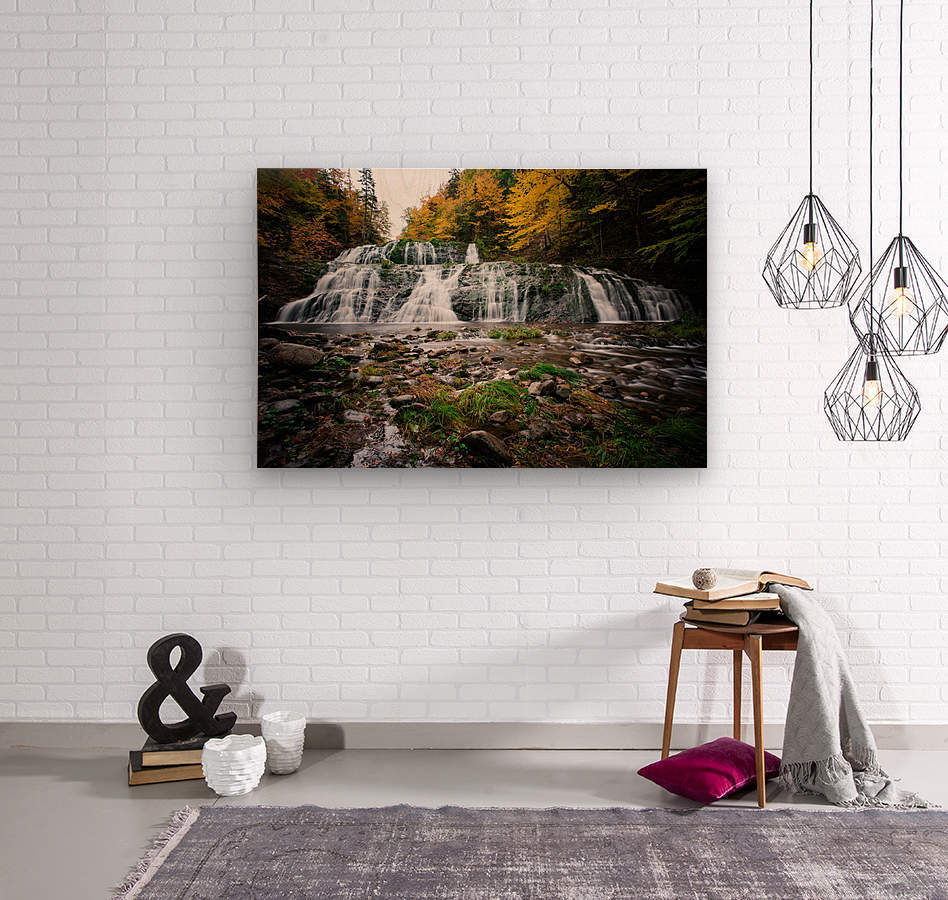 Autumn at Egypt Falls  Wood print