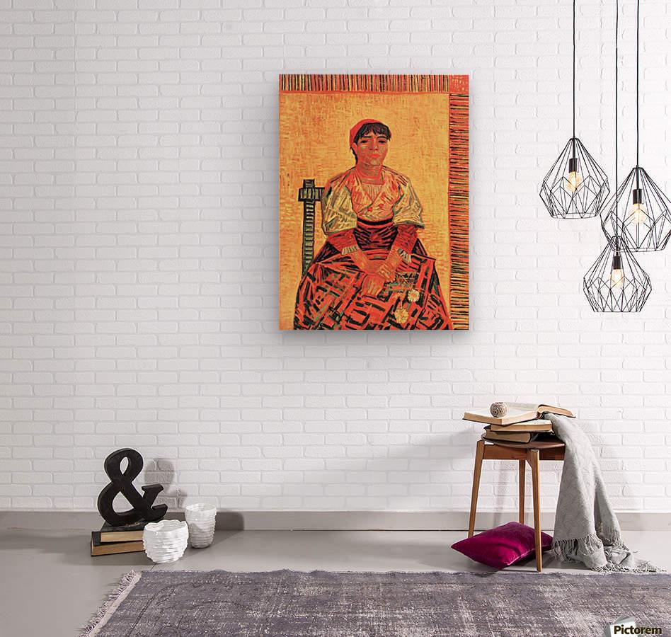 The Italian by Van Gogh  Wood print