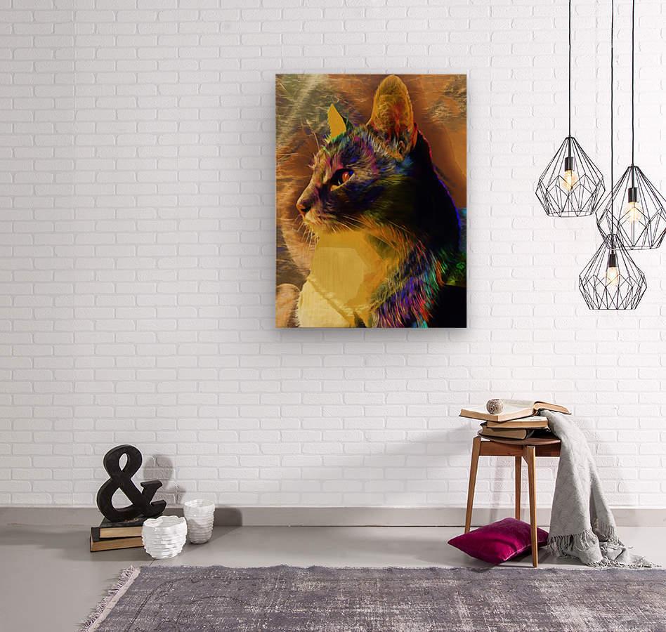 Cat Spirit Guide  Wood print