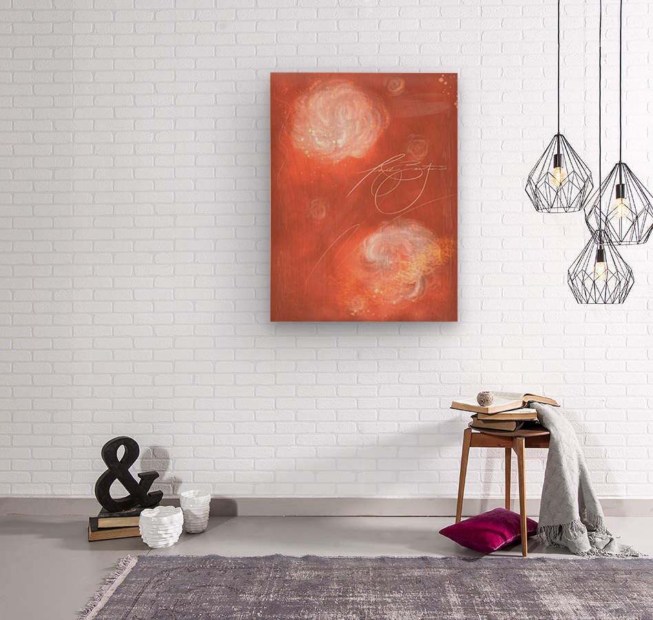 Floral Pink Coaral   Wood print
