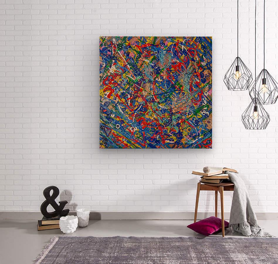 BLUE WORLD II  Wood print