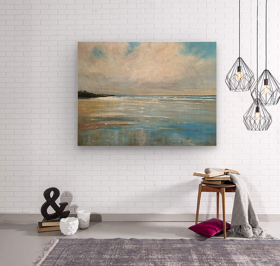 Reflections by the Shore  Wood print