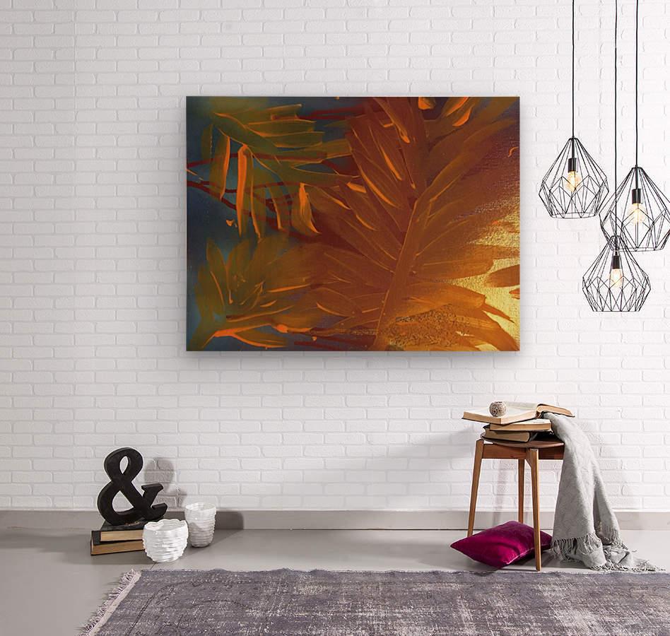 THE LEAF OF LIGHT  Wood print