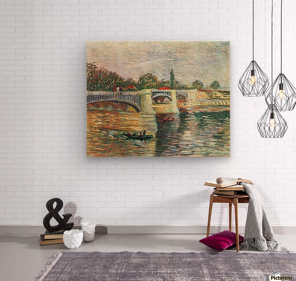 The Seine with the Pont de la Grande Jatte by Van Gogh  Wood print