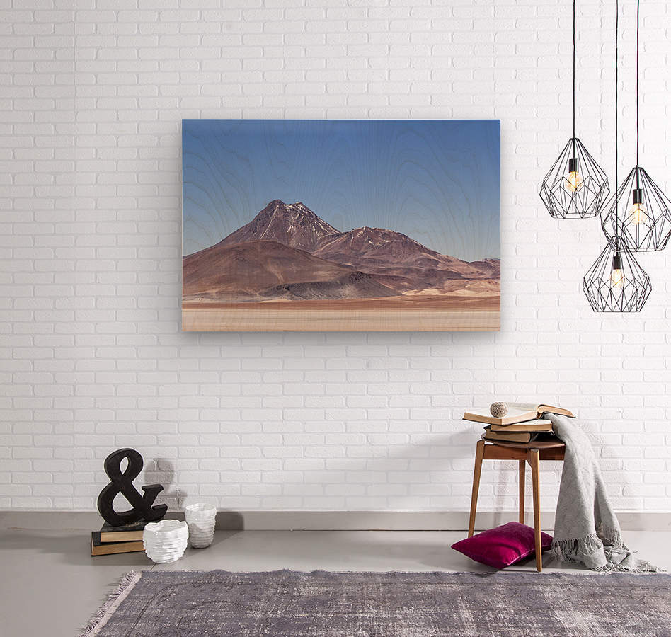 Atacama Volcano  Wood print