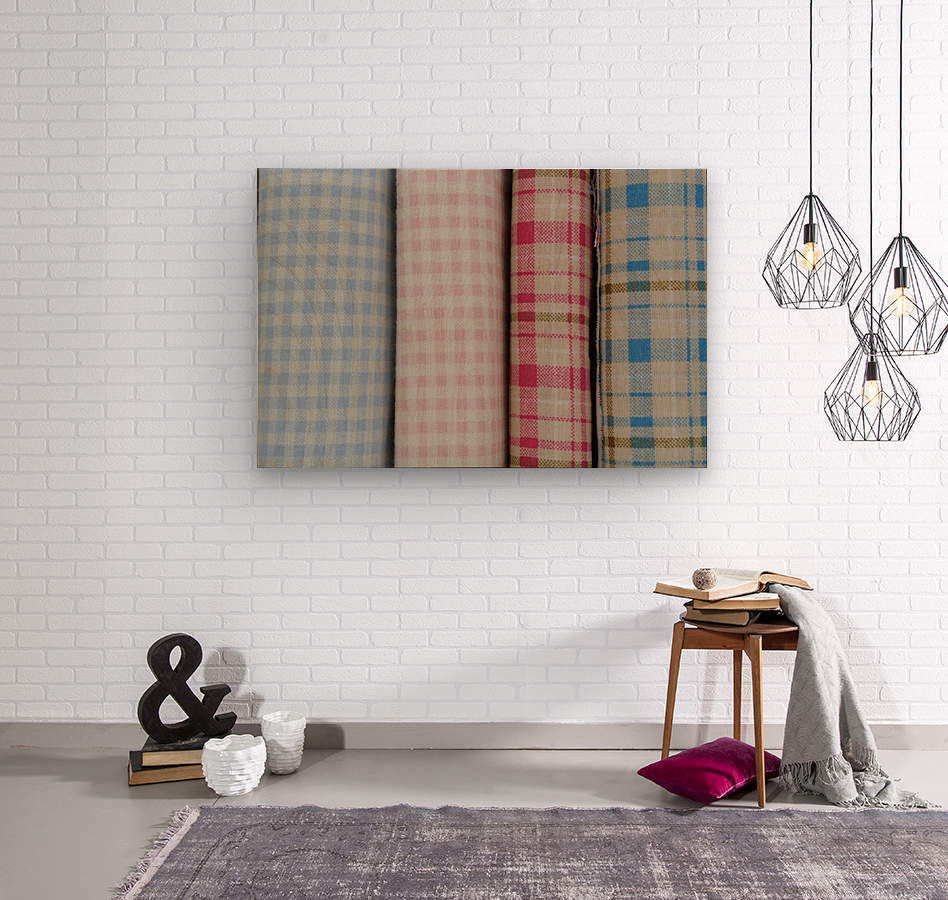 Plaid  Wood print