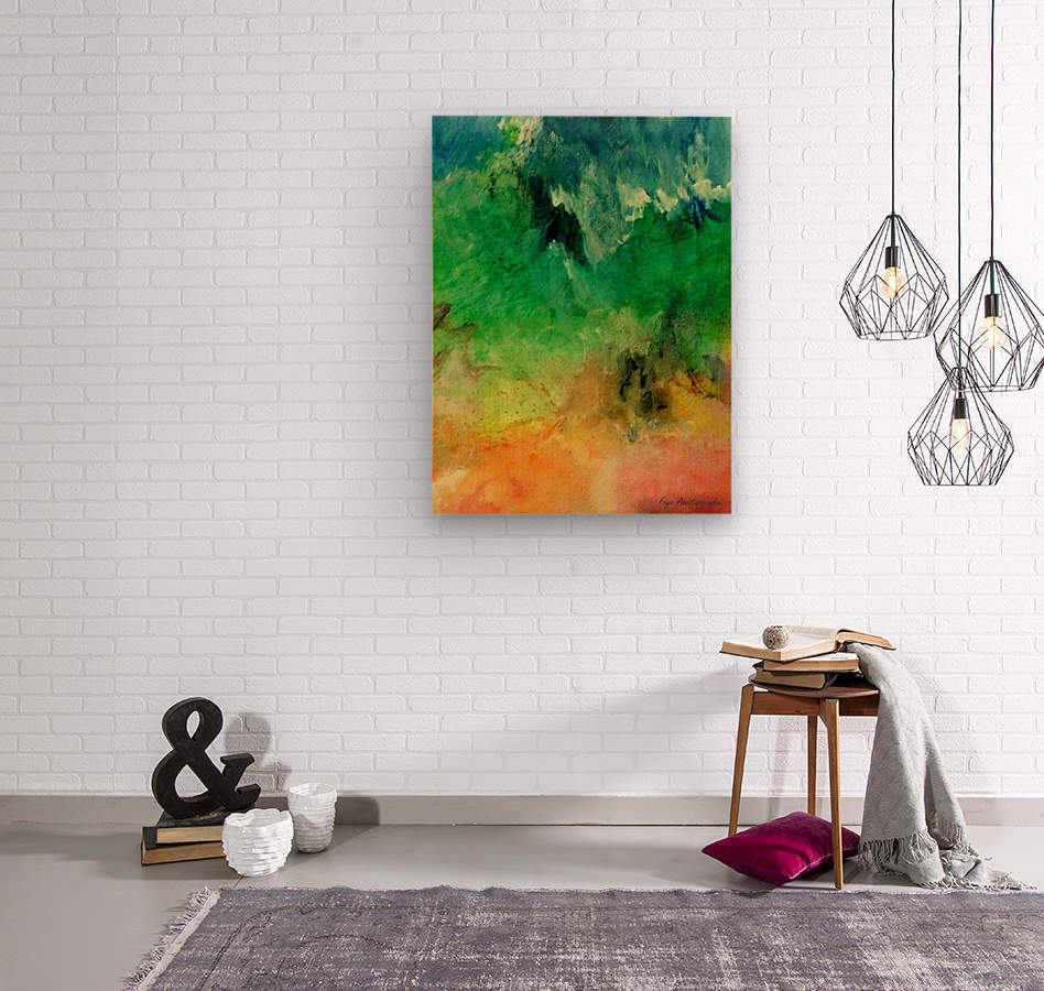 Forest Mountains  Wood print