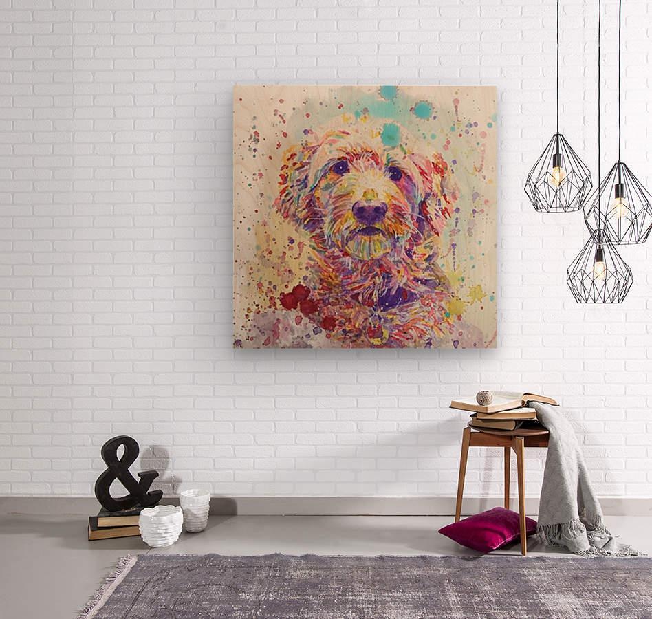 Goldendoodle - Portrait of Link  Wood print