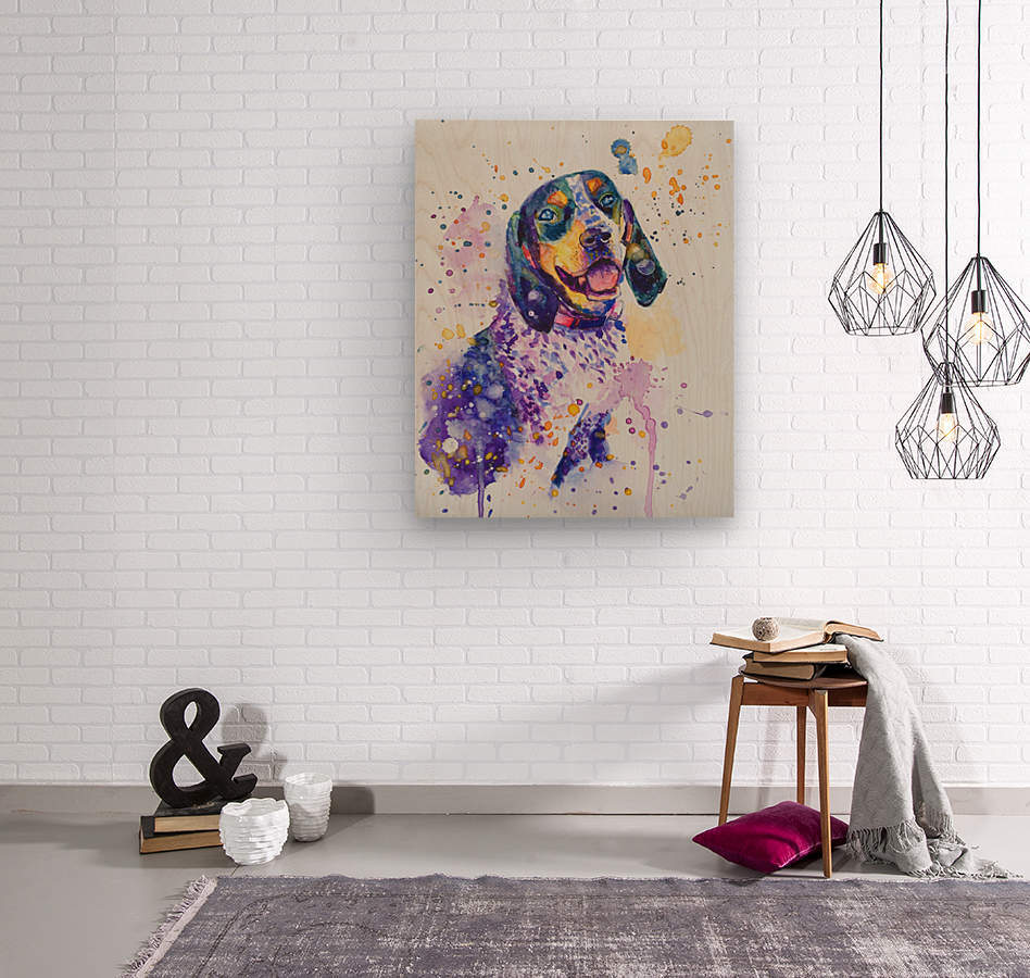 Beagle Dog - Lily Belle  Wood print