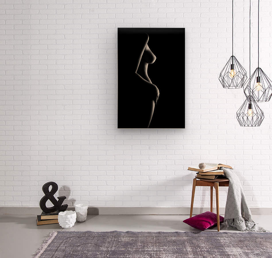Nude woman bodyscape 20  Wood print
