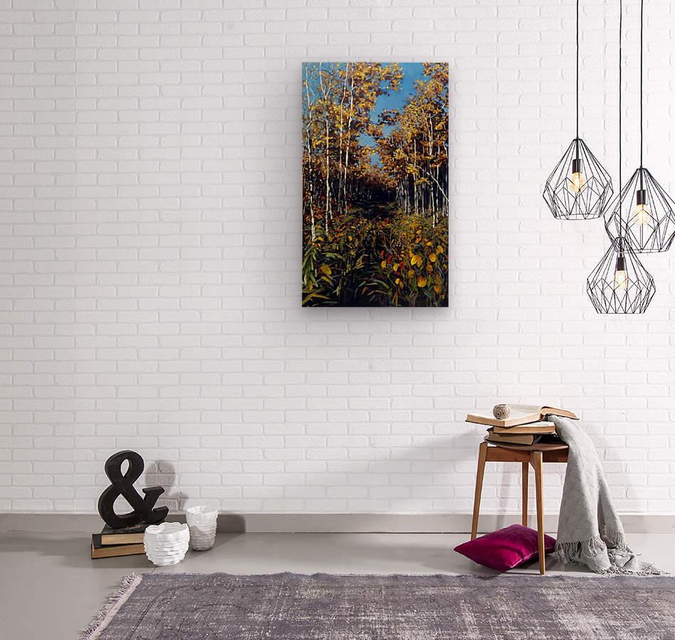 Fall Trail Fishcreek Park  Wood print