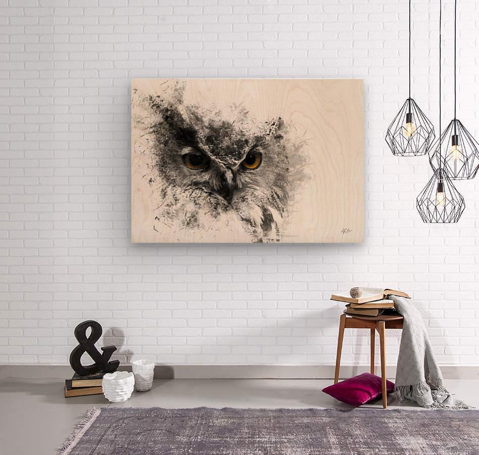 European Eagle Owl 01  Wood print