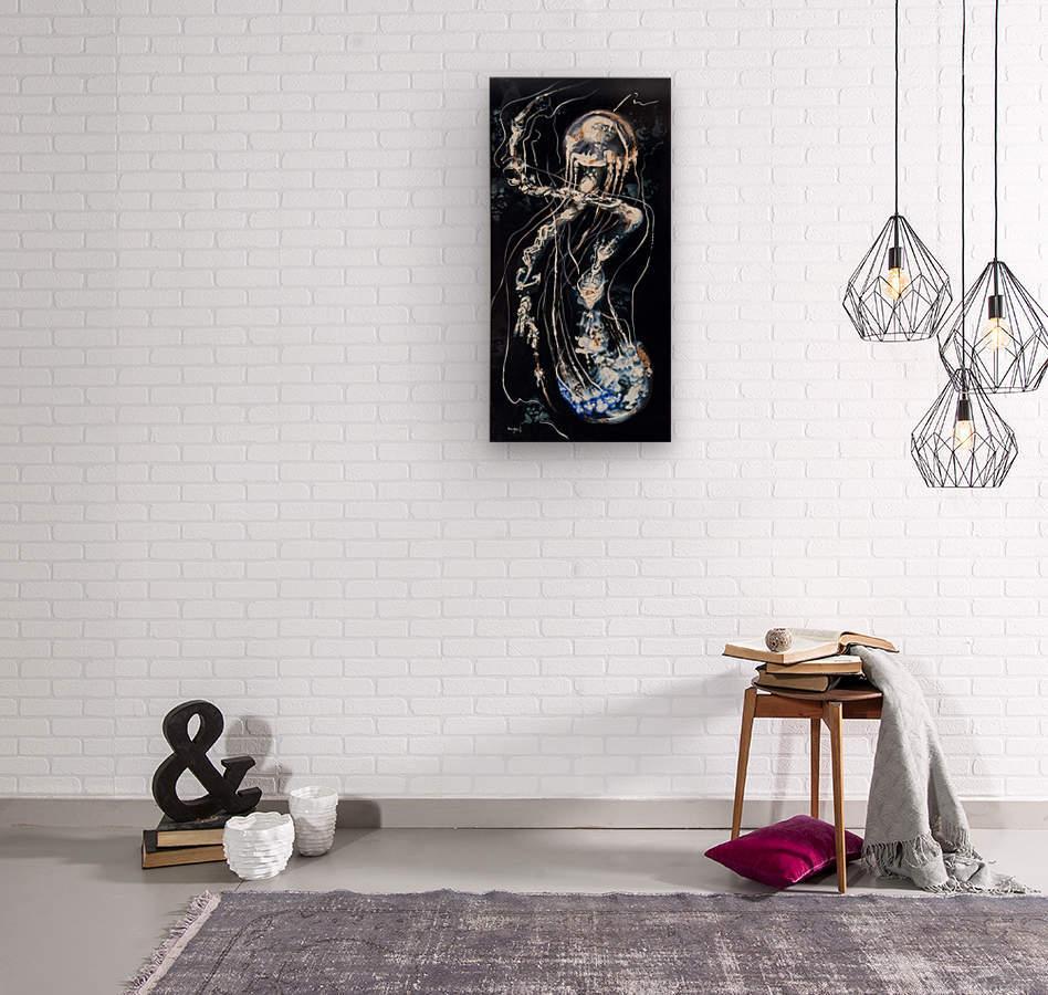 jellyfish Apparition   Wood print