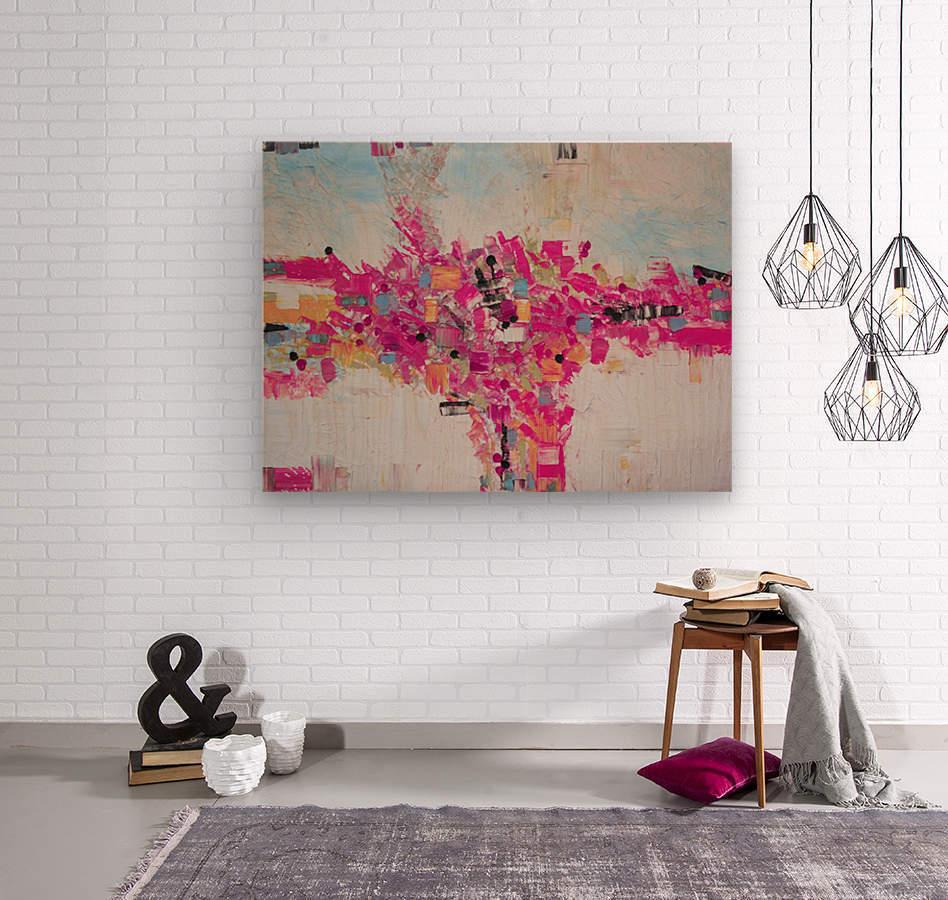 Abstract 02  Wood print