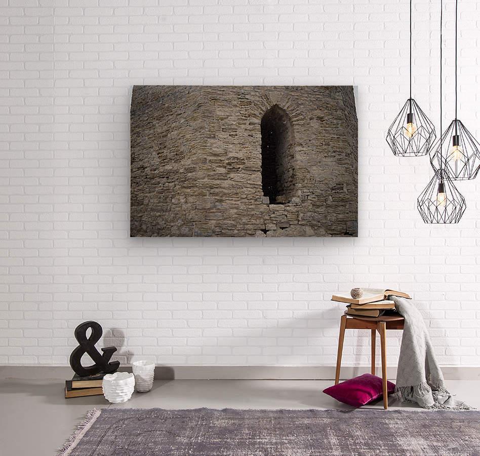 Castle Wall  Wood print
