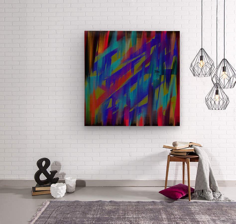 Abstract Me  Wood print