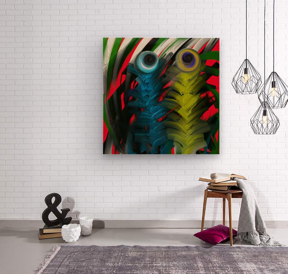 Sweet Owl  Wood print