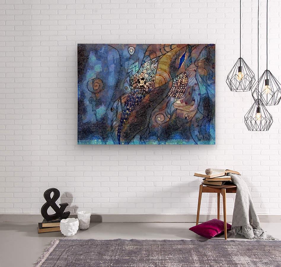 Blue Dimension  Wood print