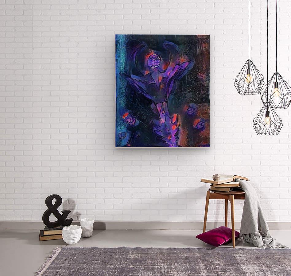 Alien Flower  Wood print