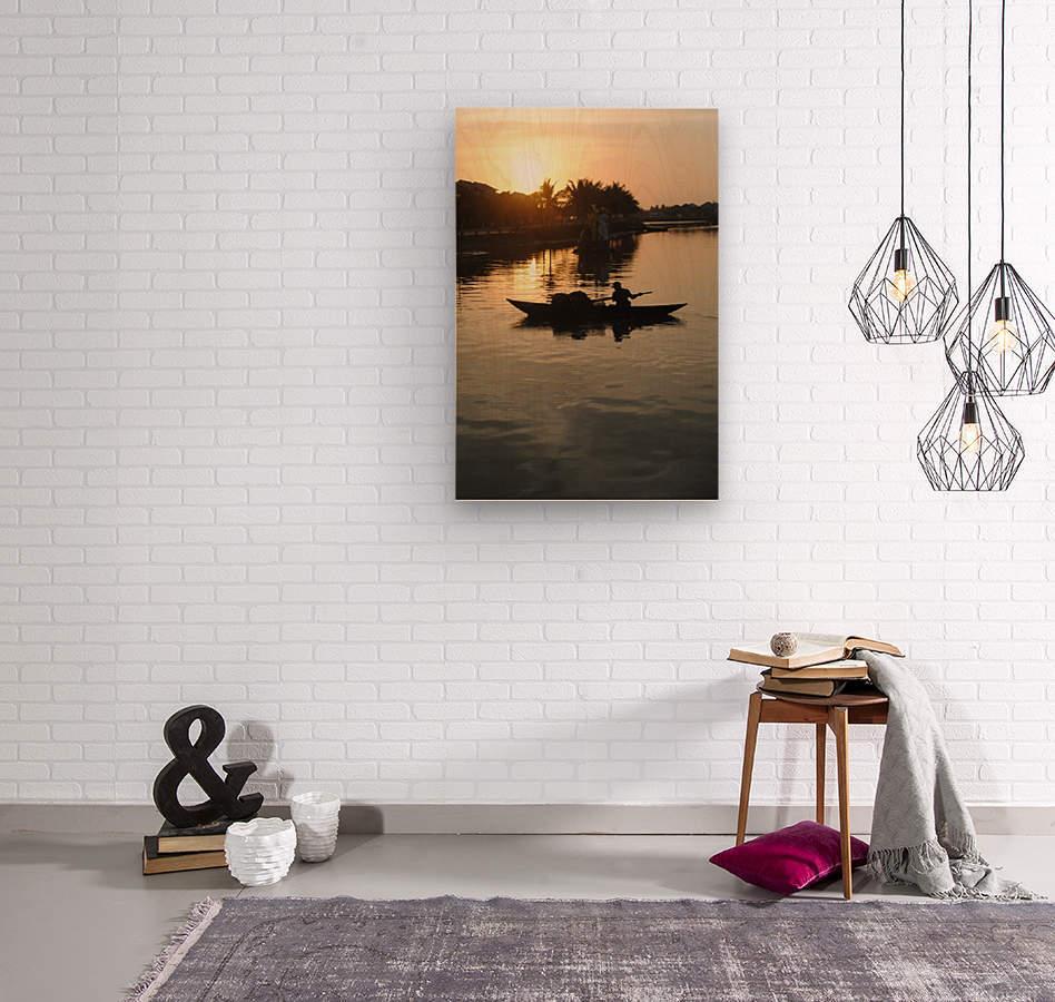Asian Fishin  Wood print