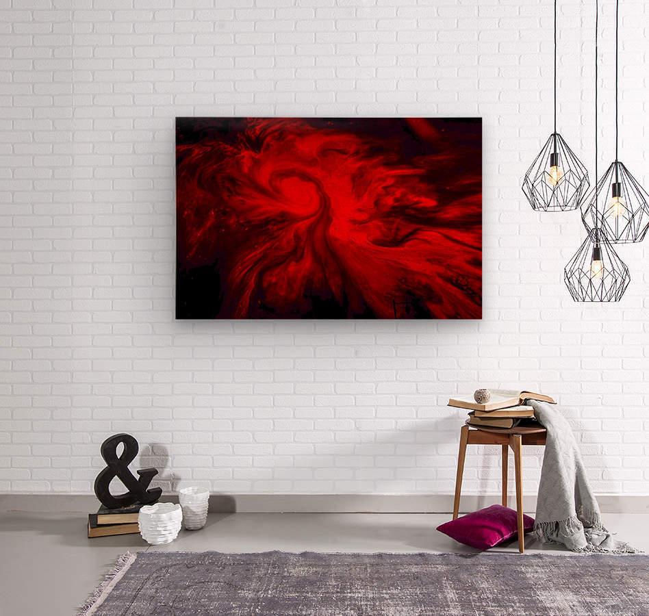 Red Fire   Impression sur bois