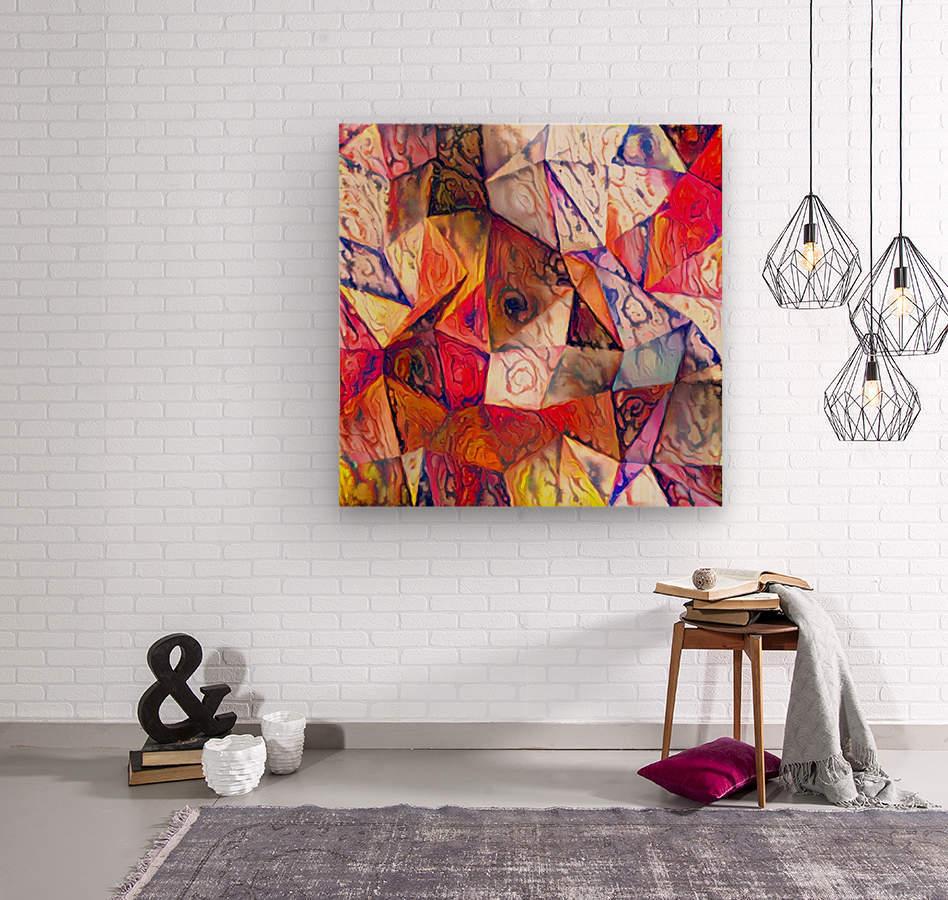 Modern Digital Abstract Painting  Wood print