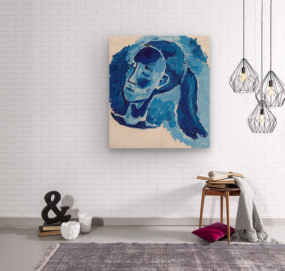 Blue Girl  Wood print