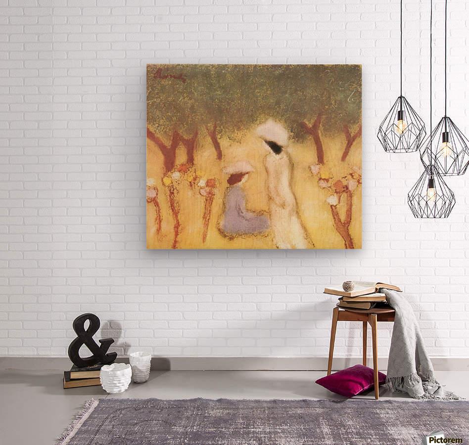 Under the Hollyhocks by Joseph Rippl-Ronai  Wood print