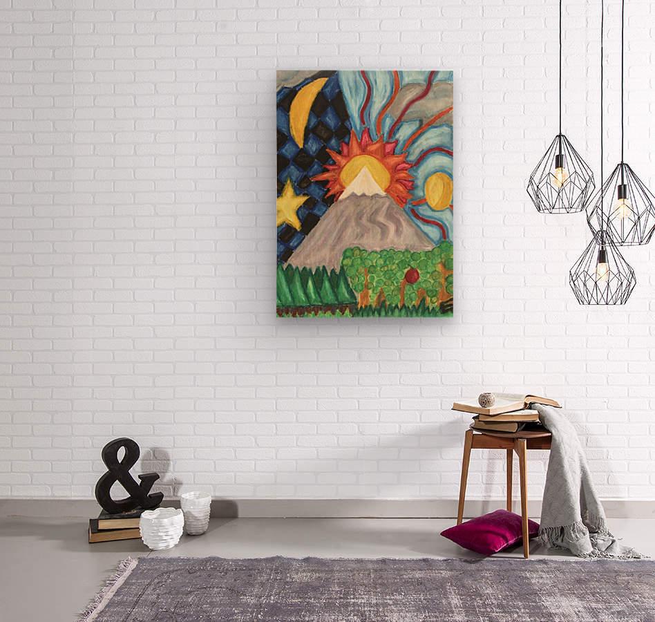 Beautiful World  Wood print