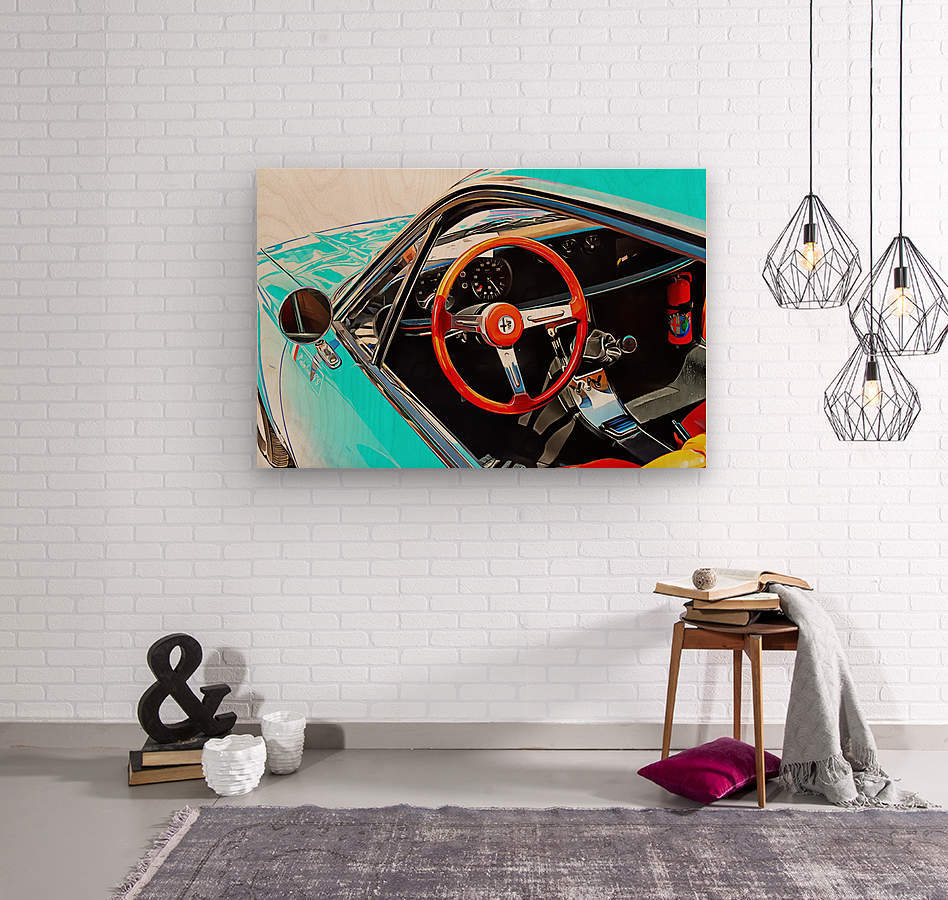 Alfa Romeo 1600Z Through The Window  Wood print