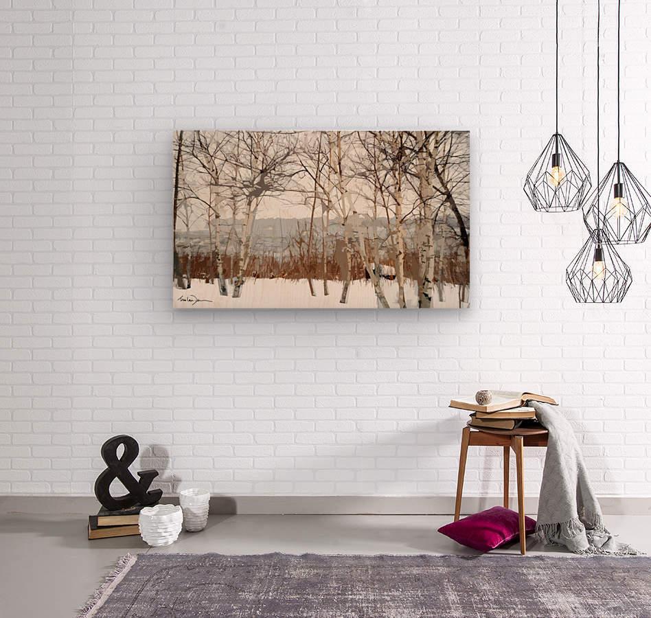 Canal Lachine  Wood print